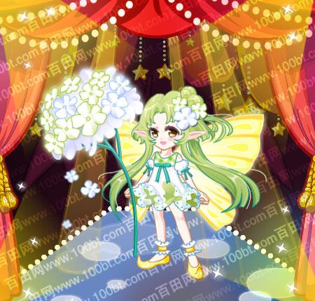 奥比岛 魔力服饰 奥比岛绣球花精灵套装服装图鉴  包含部件 花精灵