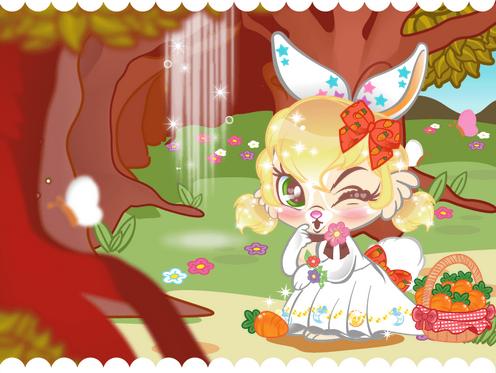 蘑菇林小兔