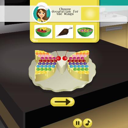 美味蝴蝶蛋糕