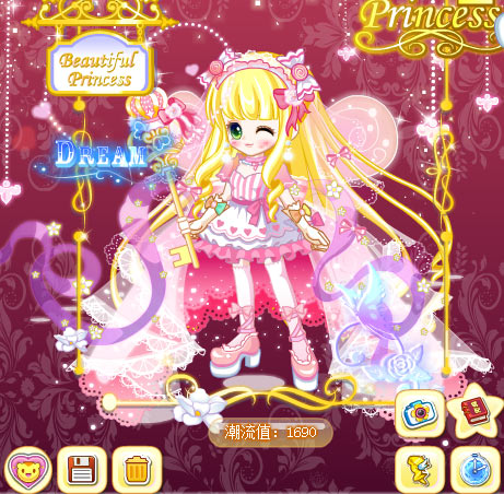 奥比岛粉萌公主魔法时装秀