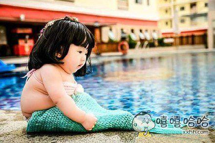 我见过最萌美人鱼,胖乎乎的太可耐了,好萌好萌,好想要一条。