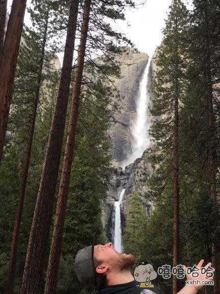 老子渴了能喝掉整个瀑布!