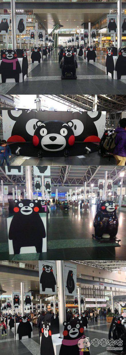 不知为啥,大阪站里变成这样了……估计乘客们来了都会大写懵逼。。。