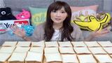 日本正妹挑战吃100片吐司