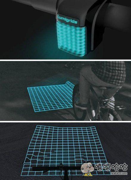 好酷炫的自行车灯