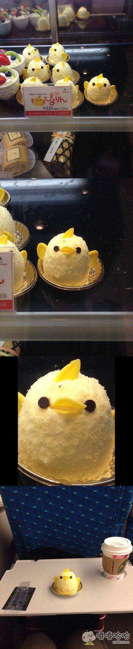 日本妹子选择这只小黄鸡布丁的理由。7只小黄鸡中只有它通过眼神在呐喊:选我!选我!!快选我!于是就选了它。