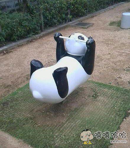 这熊猫的姿势。。。。吓得不敢锻炼了怕太投入了被驱逐。