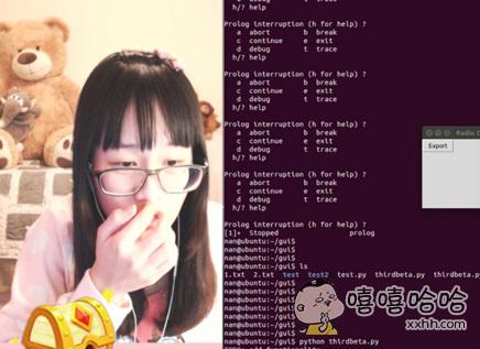 某直播平台直播写代码的妹子,看看人家的程序猿~~