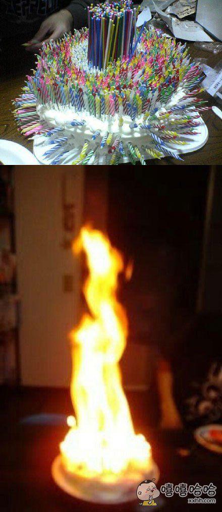 岛国一小哥为崇拜的历史伟人德川家康过生日,点燃了473根蜡烛。。。我已经报警了