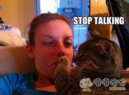 别说话,你口臭。