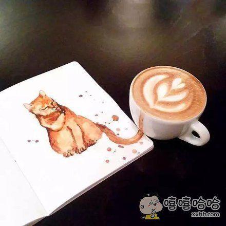 猫和咖啡的完美结合