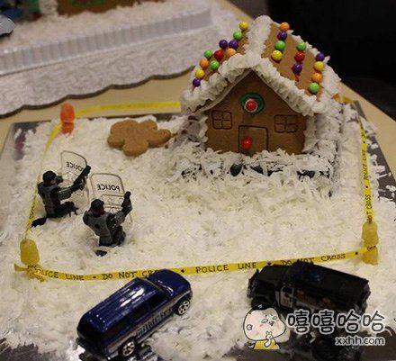 这一定是警察在过生日时吃的蛋糕