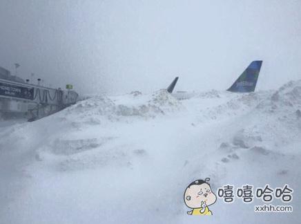 风雪过后的纽约肯尼迪国际机场