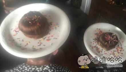 还以为是两块巧克力蛋糕!