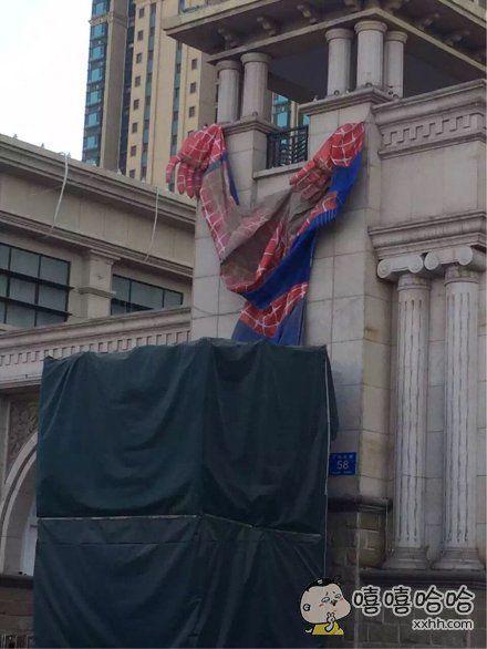 蜘蛛侠昨晚的蛛丝肯定出意外了