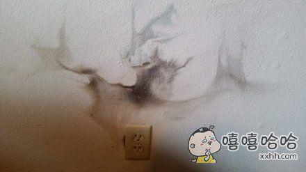 一面有故事的墙跟插座
