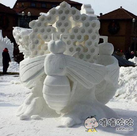 别人家堆的雪人