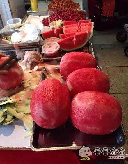 西瓜这么卖,吃货们乐了
