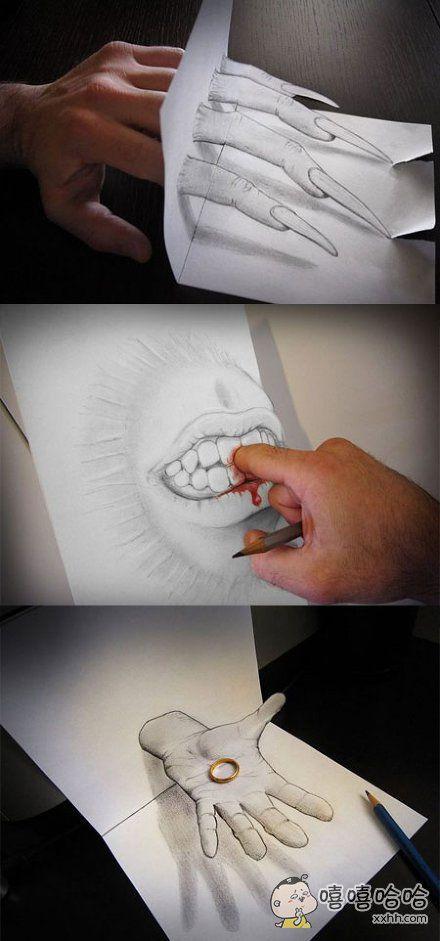 3D铅笔手绘大师,这效果小伙伴们都惊呆了!