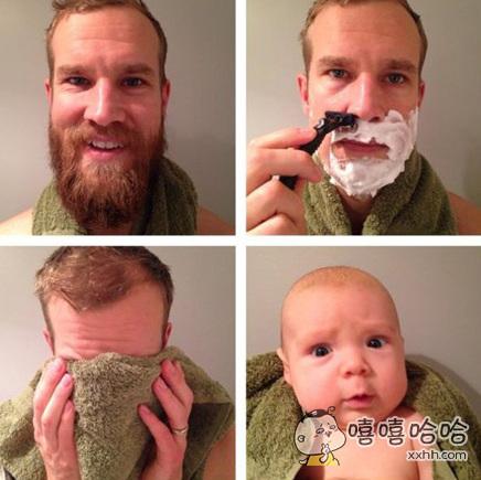 每次刮完胡子都有这种感觉