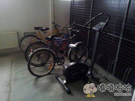 从健身房一路骑回来真累