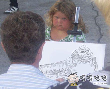 把人家画成动物了,能不生气吗?