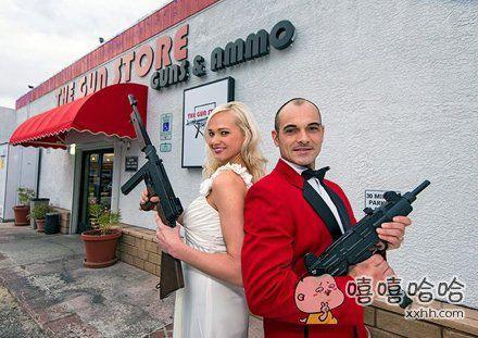 枪支婚礼的流行。