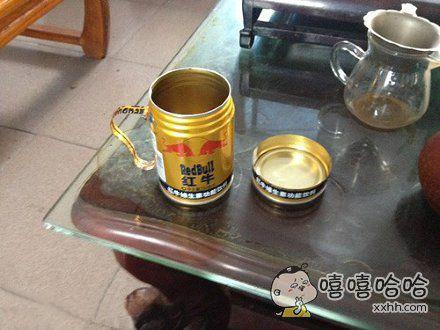 自制红牛茶杯,赞~