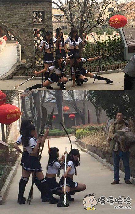 sunshine组合,在亳州华祖庵景区拍摄MV蜀国五虎将……夏天快到了,所以尺度也变大了吗?
