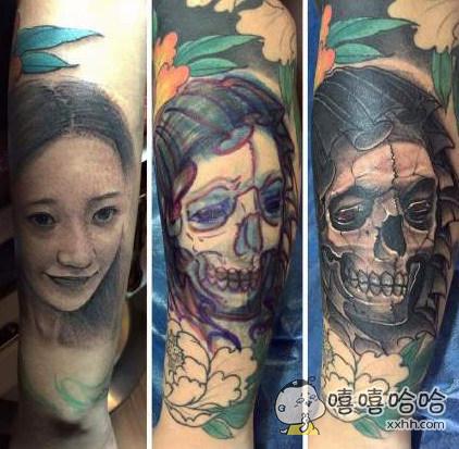 有些男人身上纹着骷髅头,可能只是他的前女友