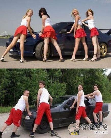 为什么车模基本是女的,大写的神经。。。。。。