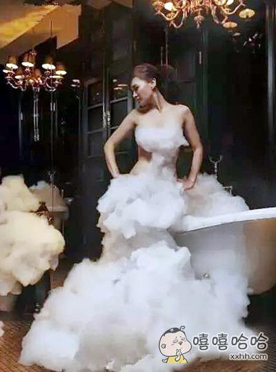 最美,最性感的泡沫婚纱。