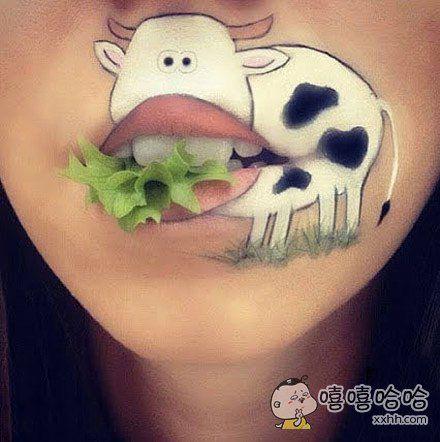 要吃生菜吗?奶牛!。