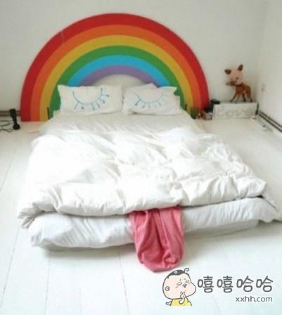 很有爱的床。