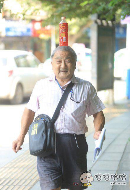 可爱的老人,太有喜感了