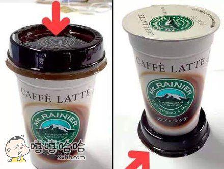 设计师当初在设计这种咖啡杯时,它的盖子其实是这么用的。当然,吃货哪来的那么多条条框框,自在就行