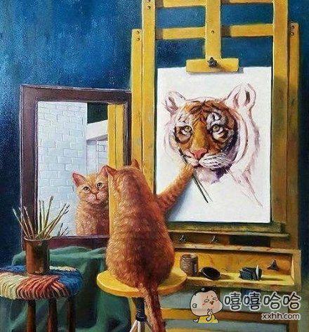 许多人给自己的自画像都是这样?