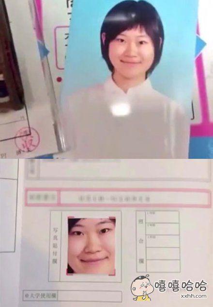 日本某学校要求交一寸照,一姑娘记错了,于是………