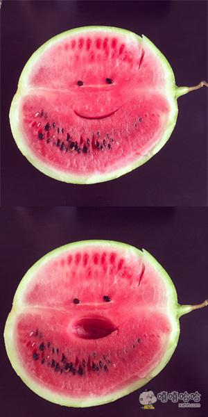 不开心的西瓜表情说变就变