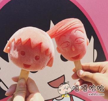 樱桃小丸子棒冰,会舍不得吃吧!