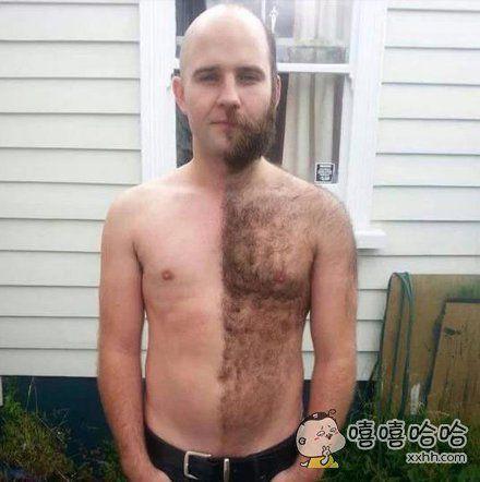 剃毛左右对比