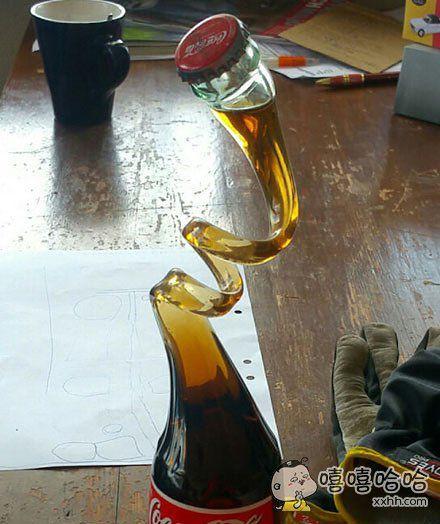 这样可乐喝起来比较慢