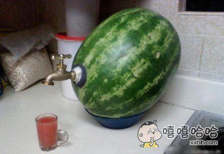 这才是真的鲜榨西瓜汁