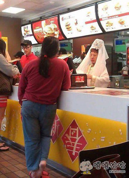 在麦当劳看到观音菩萨了!