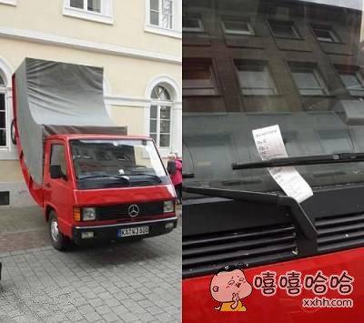 在德国收到一张违规停车罚单