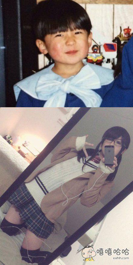 这位少年小时候的梦想是成为宇航员,23年后他成为了个女装上班族