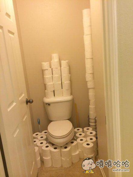 以后去厕所再也不用担心了