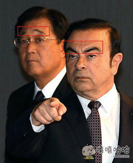 日产的社长和三菱的会长,眉毛角度差异太大了