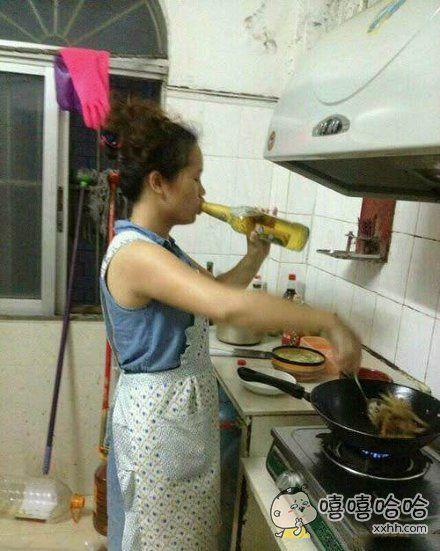 老婆做饭就是这么霸气