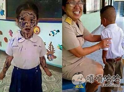 熊孩子说:老师不是你让我们画最好的朋友吗?